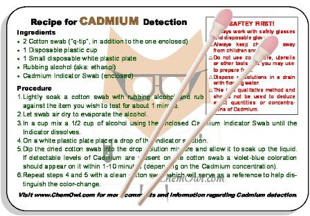 Cadmium Test Kit